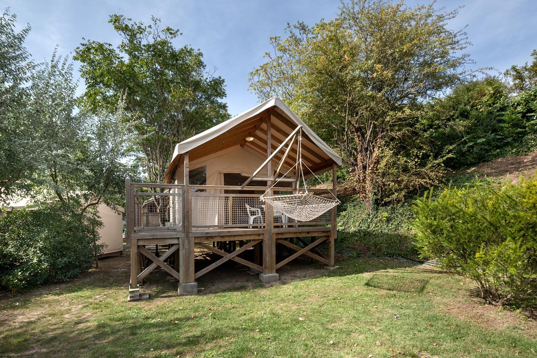 Hébergement en carrelet au camping Port Punay