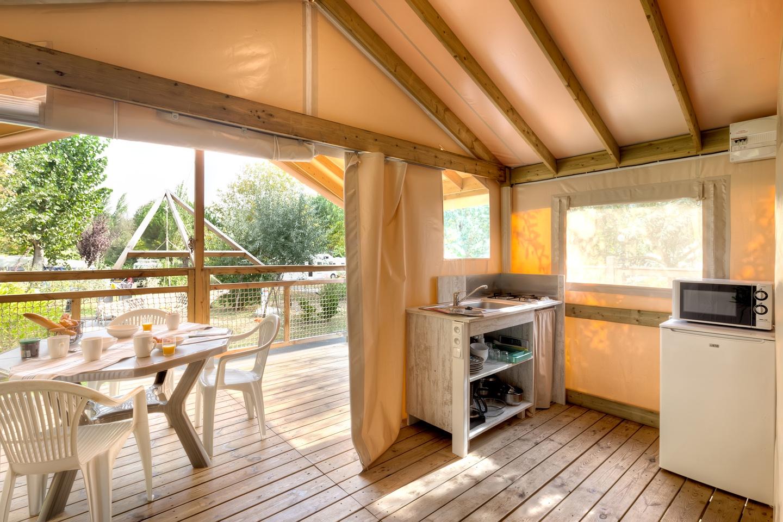 espace cuisine dans le carrelet