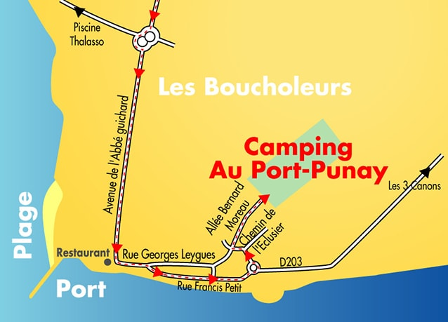 Camping charente maritime ch telaillon plage la rochelle 17 - Camping au port punay chatelaillon plage ...