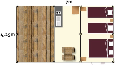 Lodge Samibois - plan interieur