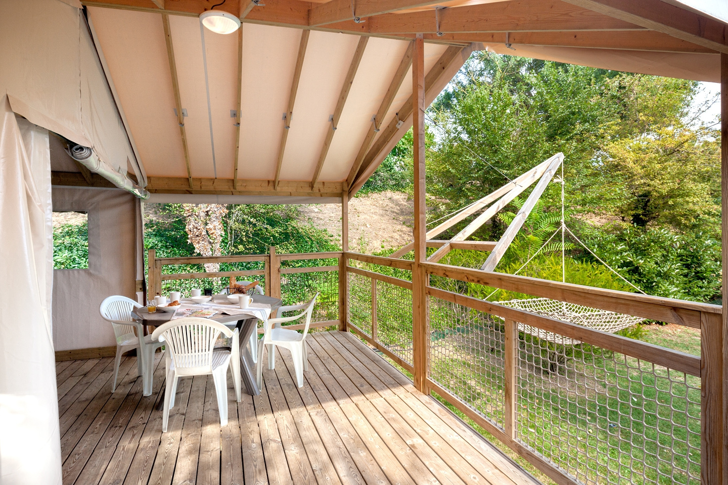 location camping en carrelet lodge en france