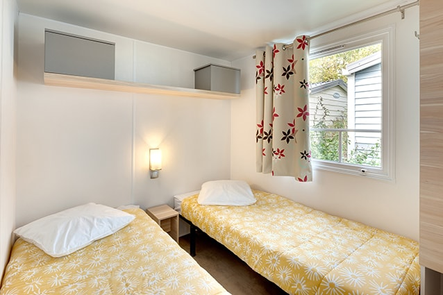 chambre lits jumeaux location mobil home famille 6 pers
