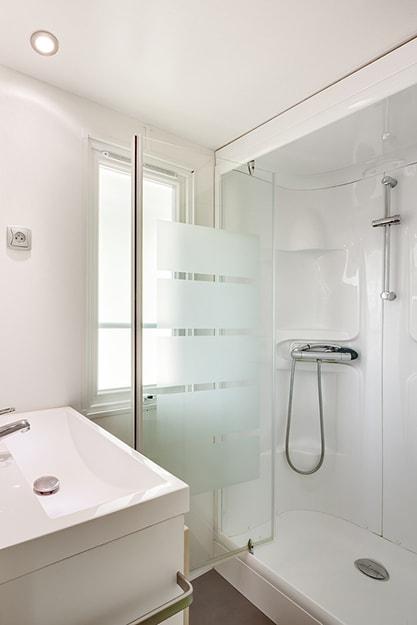 salle de bain mobil home les Alizés camping charente maritime