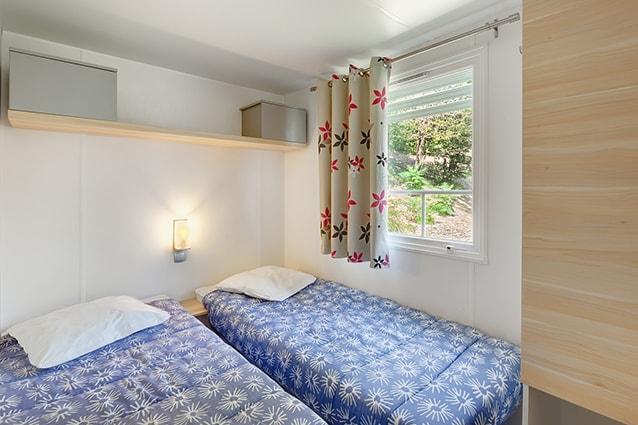 chambre lits  jumeaux mobil home châtelaillon-plage
