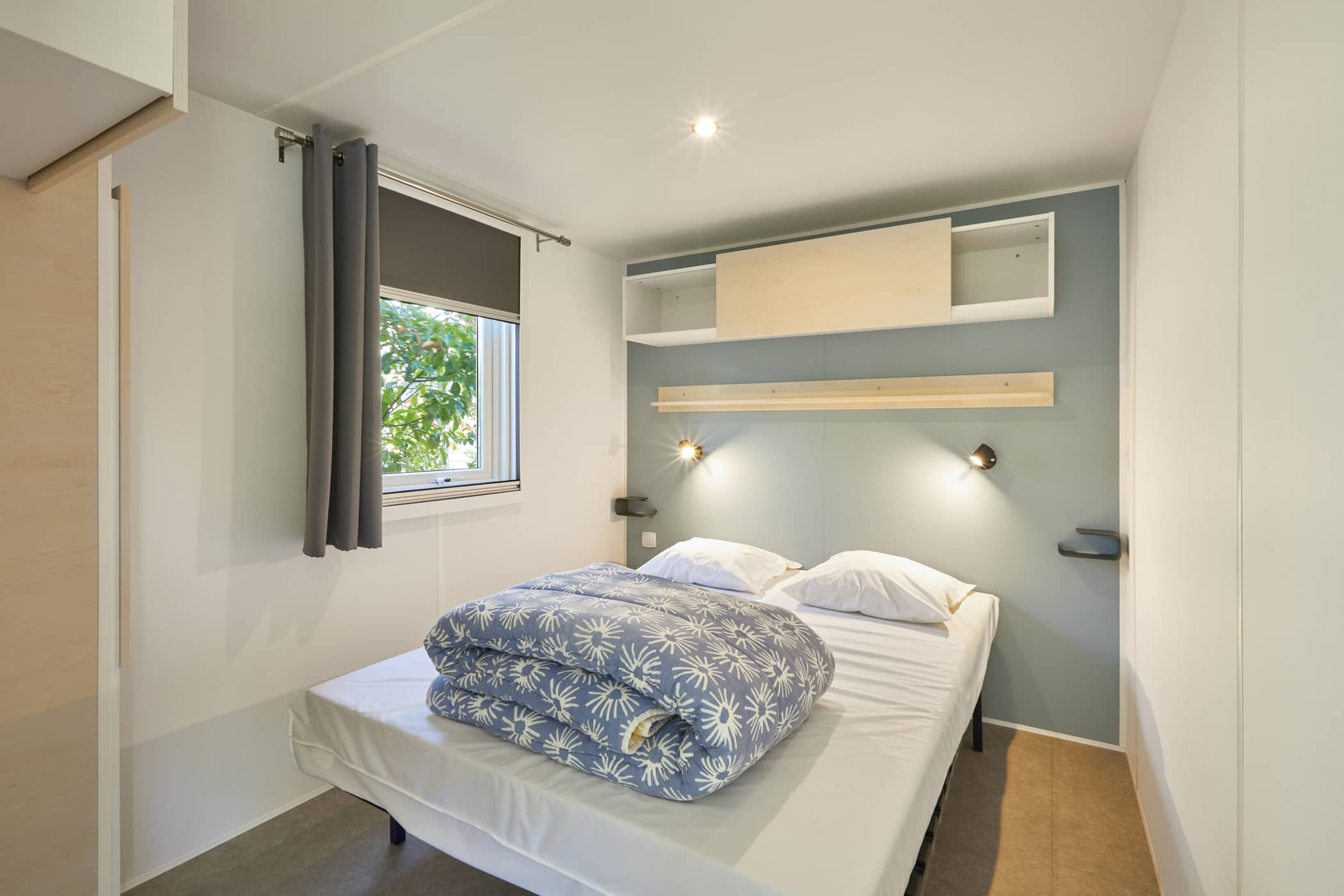 chambre double mobil-home 4 pers camping Châtelaillon-plage