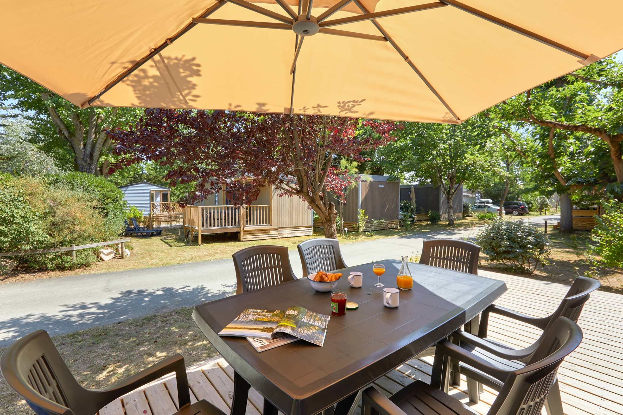 location mobil-home Terrasse 3 chambres