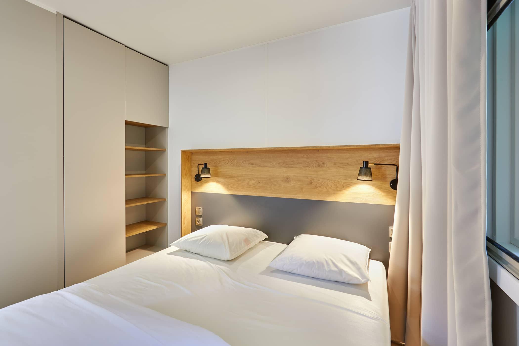 location mobil-home premium chambre double